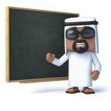 3d araba stojaki przy blackboard Obrazy Stock