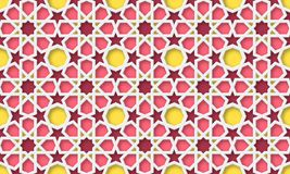 3d arabic background. Islamic geometric pattern. 3d arabic background. Islamic geometric pattern in traditional style, muslim ornament. Vector illustration stock illustration