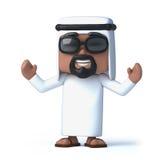 3d Arabische toejuichingen Stock Afbeeldingen