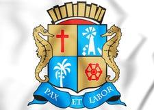 3D Aracaju Coat of Arms, Brazil. Stock Photography