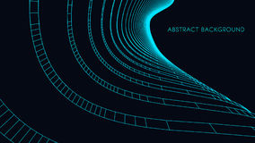 3D architectural background. Abstract Vector illustration. 3D abstract futuristic design for business presentation. Stock Image