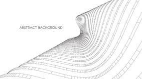 3d architecturale achtergrond abstracte vectorillustratie 3D abstract futuristisch ontwerp voor bedrijfspresentatie Royalty-vrije Stock Foto's