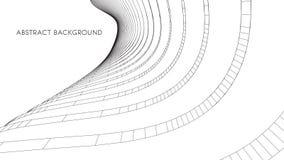 3d architecturale achtergrond abstracte vectorillustratie 3D abstract futuristisch ontwerp voor bedrijfspresentatie Royalty-vrije Stock Afbeelding