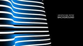 3d architecturale achtergrond abstracte vectorillustratie 3D abstract futuristisch ontwerp voor bedrijfspresentatie Royalty-vrije Stock Fotografie