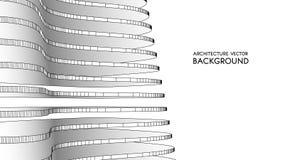 3d architecturale achtergrond abstracte vectorillustratie 3D abstract futuristisch ontwerp voor bedrijfspresentatie Stock Foto's