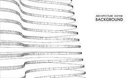 3d architecturale achtergrond abstracte vectorillustratie 3D abstract futuristisch ontwerp voor bedrijfspresentatie stock illustratie