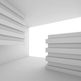 3d Architecture Background. 3d White Modern Interior Room Royalty Free Stock Photo