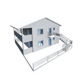 3D architecture model. Of a house Stock Images