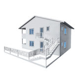 3D architecture model. Of a house Royalty Free Stock Images