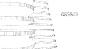 3d architektoniczny tła garażu metro abstrakcjonistyczna wektorowa ilustracja 3D abstrakcjonistyczny futurystyczny projekt dla bi Obraz Royalty Free