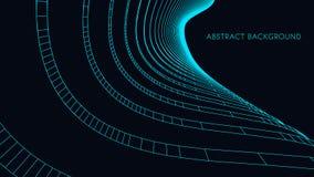 3d architektoniczny tła garażu metro abstrakcjonistyczna wektorowa ilustracja 3D abstrakcjonistyczny futurystyczny projekt dla bi Obraz Stock