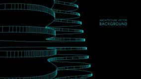 3d architektoniczny tła garażu metro abstrakcjonistyczna wektorowa ilustracja 3D abstrakcjonistyczny futurystyczny projekt dla bi Zdjęcie Stock