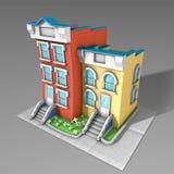 3D architektury modela dom zdjęcia royalty free