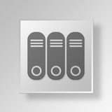 3D archive icon Business Concept. 3D Symbol Gray Square archive icon Business Concept Royalty Free Stock Images