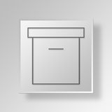 3D archive icon Business Concept. 3D Symbol Gray Square archive icon Business Concept Stock Image