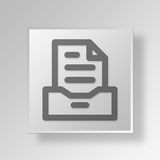 3D archive icon Business Concept. 3D Symbol Gray Square archive icon Business Concept Royalty Free Stock Photo