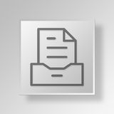 3D archive icon Business Concept. 3D Symbol Gray Square archive icon Business Concept Stock Photos