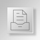 3D archive icon Business Concept. 3D Symbol Gray Square archive icon Business Concept Royalty Free Stock Image