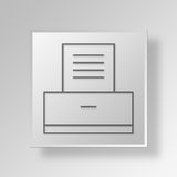 3D archive icon Business Concept. 3D Symbol Gray Square archive icon Business Concept Stock Photography