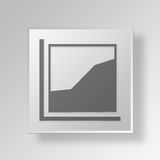 3D Area Chart icon Business Concept. 3D Symbol Gray Square Area Chart icon Business Concept Stock Photo