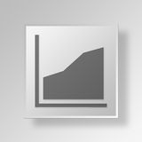 3D Area Chart icon Business Concept. 3D Symbol Gray Square Area Chart icon Business Concept Stock Photos