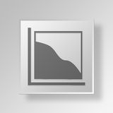 3D Area Chart icon Business Concept. 3D Symbol Gray Square Area Chart icon Business Concept Stock Image