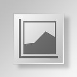 3D Area Chart icon Business Concept. 3D Symbol Gray Square Area Chart icon Business Concept Royalty Free Stock Image