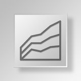 3D area icon Business Concept. 3D Symbol Gray Square area icon Business Concept Stock Image