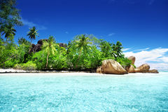 D'Argent παραλία πηγής Anse, νησί Λα Digue Στοκ φωτογραφία με δικαίωμα ελεύθερης χρήσης
