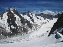 d'Argentière de glacier photographie stock