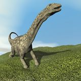 3D Argentinosaurusdinosaurus - geef terug Stock Fotografie