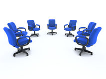 3d Array of office chairs Royalty Free Stock Image