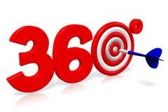 3D arremessa a ilustração - 360 graus Imagens de Stock Royalty Free