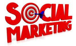 3D arremessa a ilustração - mercado social Foto de Stock Royalty Free