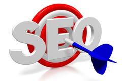 3D arremessa a ilustração - SEO - otimização do Search Engine Ilustração Royalty Free