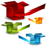 3d Arrow Boxes. An image of 3d arrow boxes Stock Photo