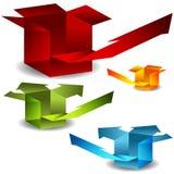 3d Arrow Boxes Stock Photo