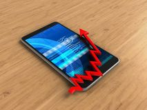3d arrow chart Royalty Free Stock Images