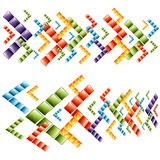 3d Arrow Cubes. An image of 3d transparent arrow cubes Royalty Free Stock Photography