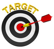 3d Arrow Darts and Target. On white background Royalty Free Stock Photo