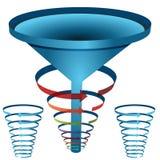 3d Arrow Funnel Chart. An image of a arrow funnel 3d chart Stock Photo