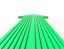 3d arrow. Green arrow 3d concept design Royalty Free Stock Photos