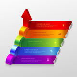 3d arrow grow infographic background template Royalty Free Stock Image