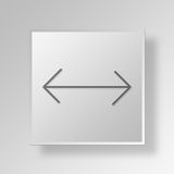 3D Arrow icon Business Concept. 3D Symbol Gray Square Arrow icon Business Concept Stock Photos
