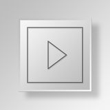 3D Arrow icon Business Concept. 3D Symbol Gray Square Arrow icon Business Concept Royalty Free Stock Image