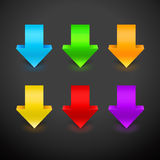 3D Arrow Icon Set. Vector illustration with colorful arrows Royalty Free Stock Photography