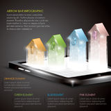3D arrow infographic. With any colours of arrow as comparison Stock Photography