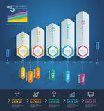 3d arrow infographics. Vector illustration. can be used for workflow layout, banner, diagram, number options, step up options, web design Stock Images