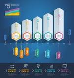 3d arrow infographics. Stock Images