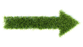 3d arrow made of grass Royalty Free Stock Image